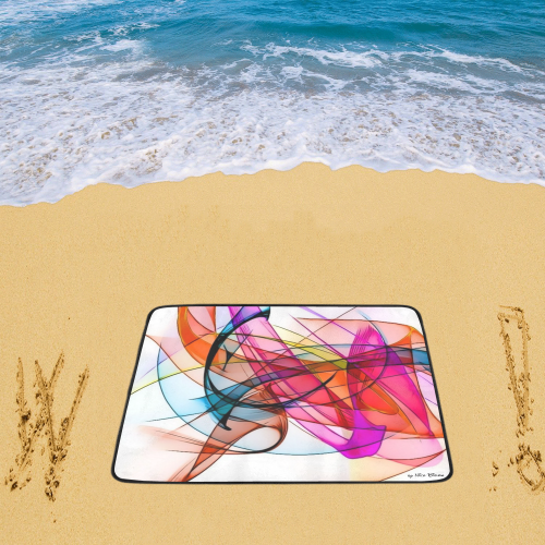 """Summer Color Patter by Nico Bielow Beach Mat 78""""x 60"""""""