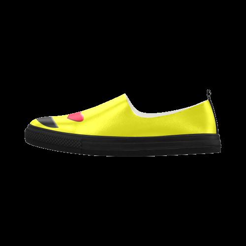 d5b0e08a27bc Emoticon Heart Smiley Apus Slip-on Microfiber Women s Shoes (Model 021)