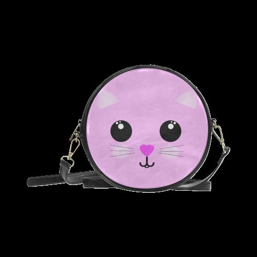 Kawaii Kitty Round Sling Bag (Model 1647)