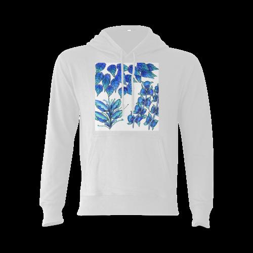 Pretty Blue Flowers, Aqua Garden Zendoodle Oceanus Hoodie Sweatshirt (Model H03)
