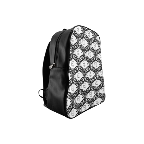 Bird and Butterfly Tessellation School Backpack/Large (Model 1601)