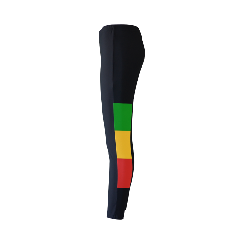 Rastafari Flag Colored Stripes Cassandra Women's Leggings (Model L01)