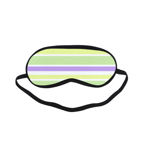 Yellow Green Purple Stripes Pattern Sleeping Mask