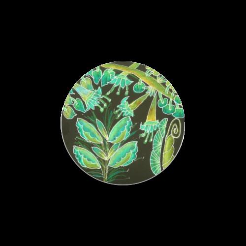 Irish Garden, Lime Green Flowers Dance in Joy Round Coaster
