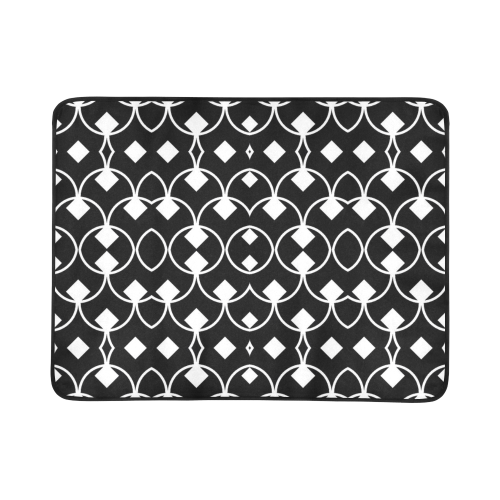 "black and white Pattern 4416 Beach Mat 78""x 60"""