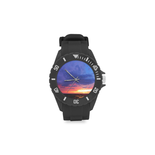 Evening's Face Sport Rubber Strap Watch(Model 301)