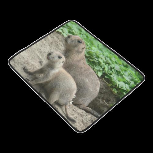 """prairie dogs 04 Beach Mat 78""""x 60"""""""