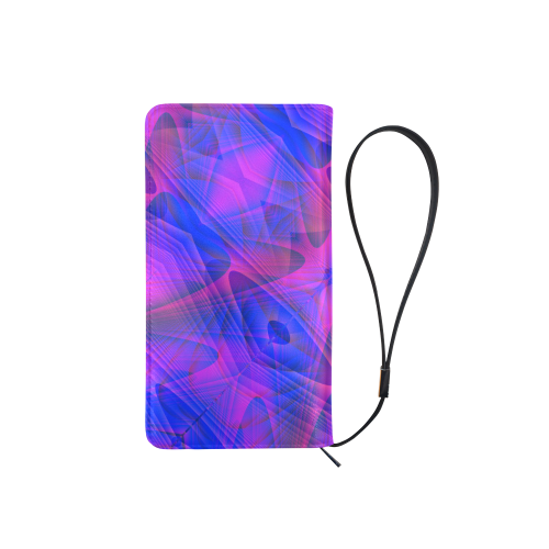 Blue and Purple Abstract Men's Clutch Purse (Model 1638)
