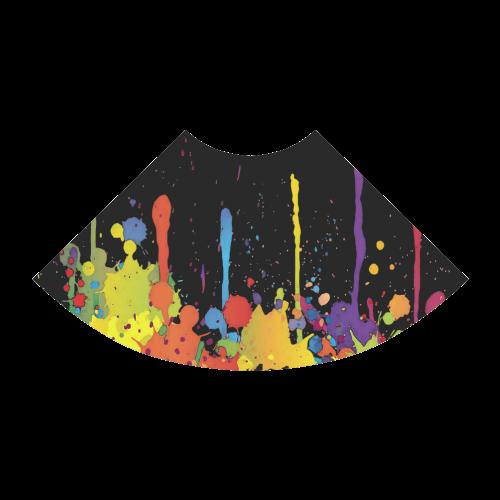 Crazy multicolored running SPLASHES Atalanta Sundress (Model D04)