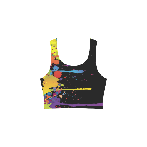 Crazy multicolored running SPLASHES Atalanta Sundress (Model D04)