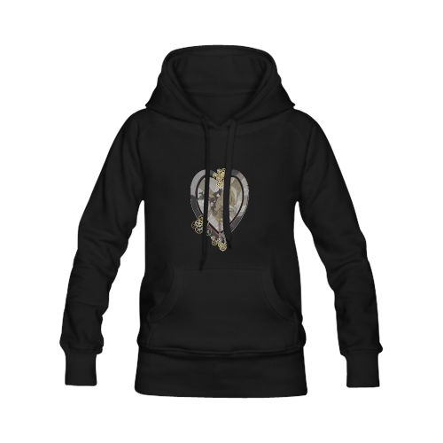 Time piece heart Women's Classic Hoodies (Model H07)