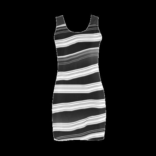 Gray black invert2 Medea Vest Dress (Model D06)
