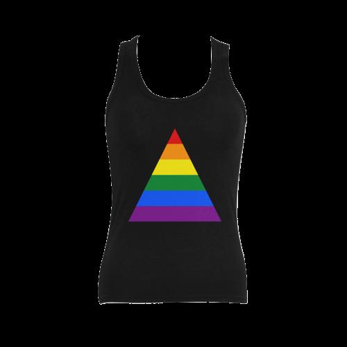 Gay Pride Rainbow Flag Stripes Women s Shoulder-Free Tank Top (Model ... 7c2d45f0ee
