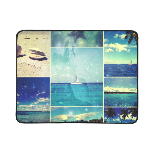 """Starry Starry Caribbean Night Beach Mat 78""""x 60"""""""