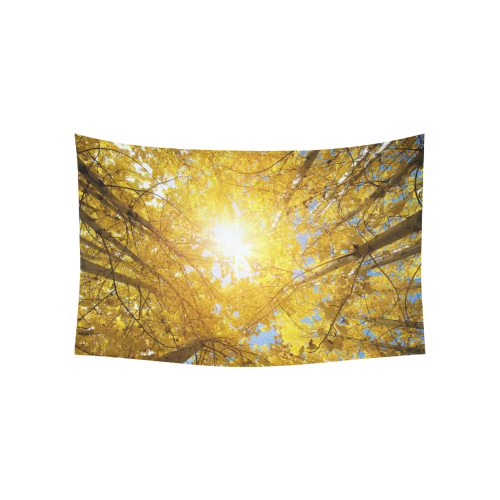"""Autumn Tree Nature Cotton Linen Wall Tapestry 60""""x 40"""""""