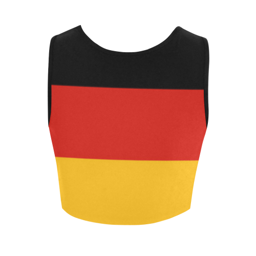 German Flag Colored Stripes Women's Crop Top (Model T42)