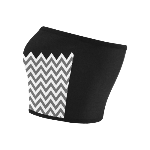 HIPSTER zigzag chevron pattern white Bandeau Top