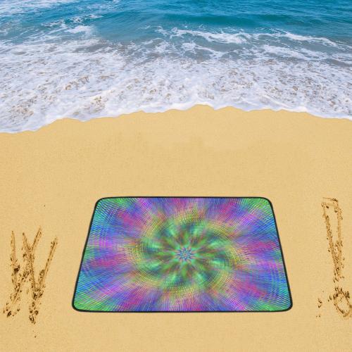 "swirl20160601 Beach Mat 78""x 60"""