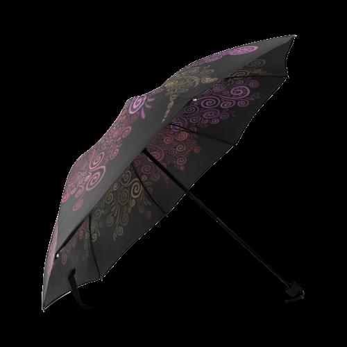 Psychedelic 3D Rose Foldable Umbrella