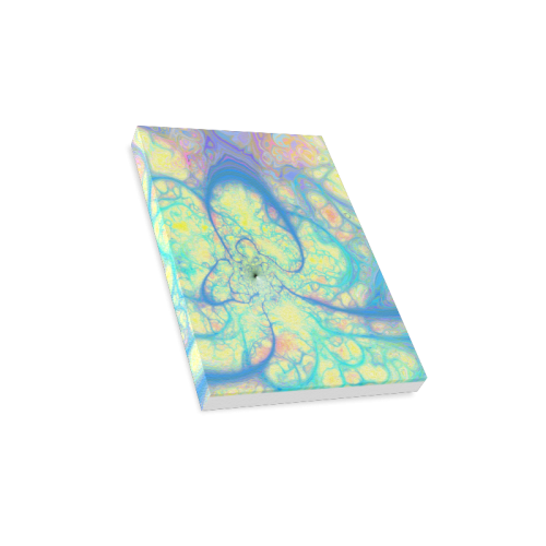 "Blue Angel, Abstract Cosmic Azure Lemon Canvas Print 8""x10"""