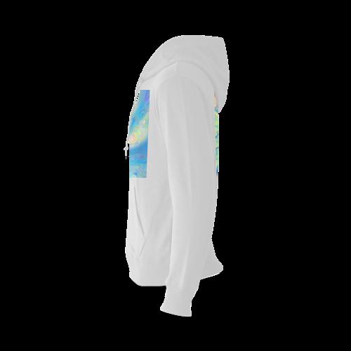 Blue Angel, Abstract Cosmic Azure Lemon Gildan Hoodie Sweatshirt (Model H03)