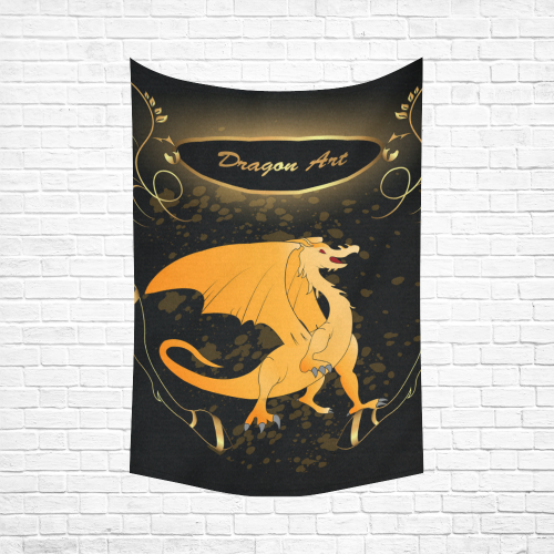 "Funny cartoon dragon Cotton Linen Wall Tapestry 60""x 90"""