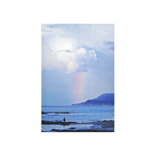 """Love under the Rainbow Cotton Linen Wall Tapestry 40""""x 60"""""""