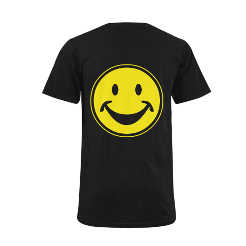 Funny yellow SMILEY for happy people Men's V-Neck T-shirt  Big Size(USA Size) (Model T10)