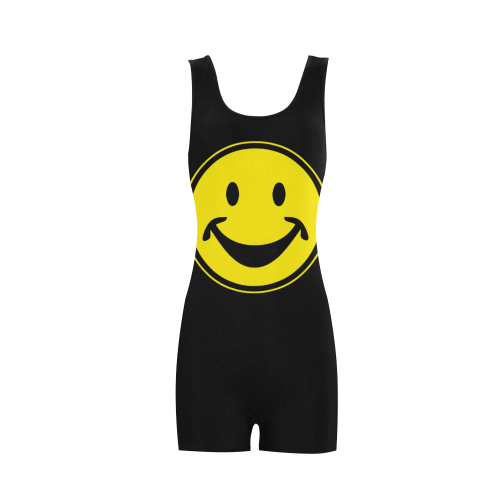 Funny yellow SMILEY for happy people Classic One Piece Swimwear (Model S03)