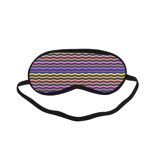 Colorful Zig Zag Pattern Chevron Black Sleeping Mask