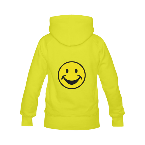 Funny yellow SMILEY for happy people Men's Classic Hoodies (Model H10)