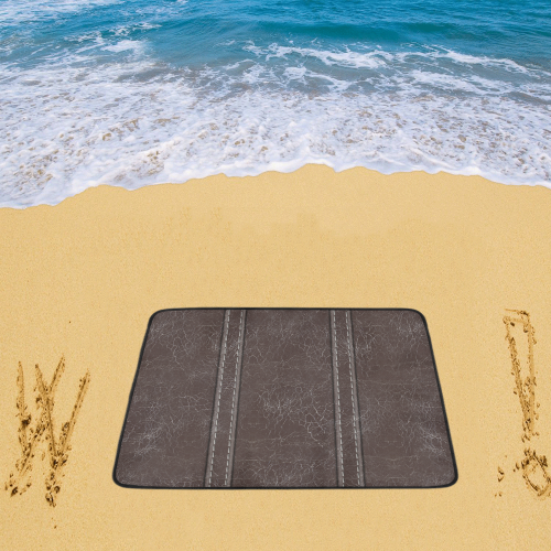 """Brown Crackling With Stitching Beach Mat 78""""x 60"""""""