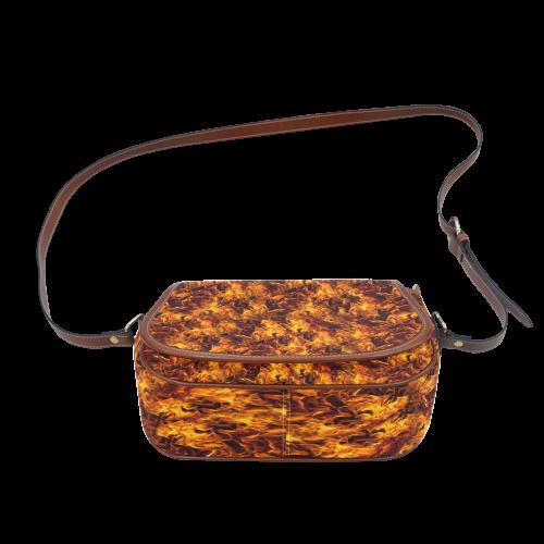 Flaming Fire Pattern Saddle Bag/Large (Model 1649)
