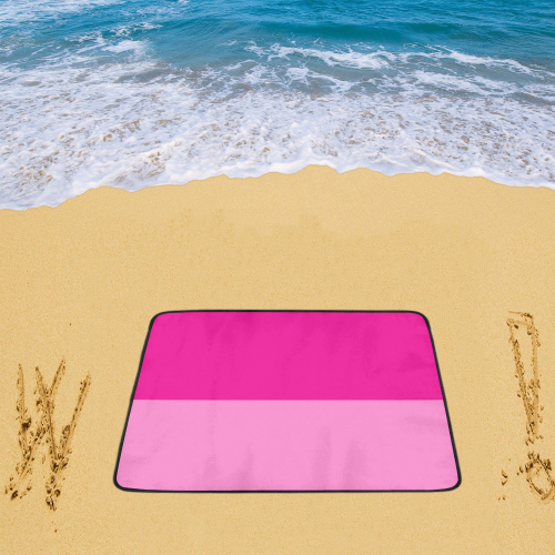 "Only two Colors - pink mix + your ideas Beach Mat 78""x 60"""