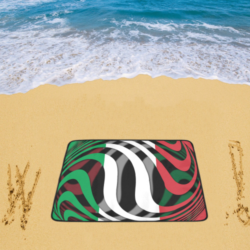 "The Flag of Italy Beach Mat 78""x 60"""
