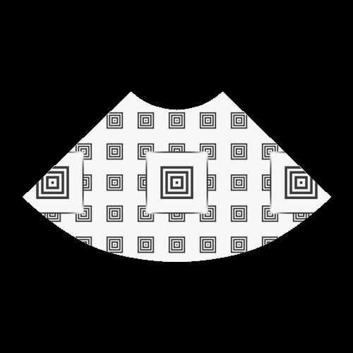 Solid Squares Frame Mosaic Black & White Atalanta Sundress (Model D04)