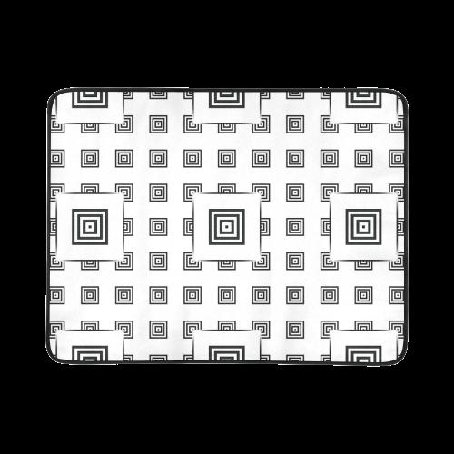 "Solid Squares Frame Mosaic Black & White Beach Mat 78""x 60"""