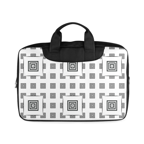 """Solid Squares Frame Mosaic Black & White Macbook Air 15""""(Two sides)"""
