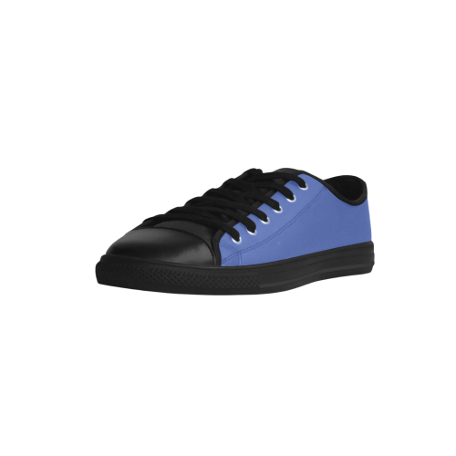 Dazzling Blue Aquila Microfiber Leather Women's Shoes (Model 028)