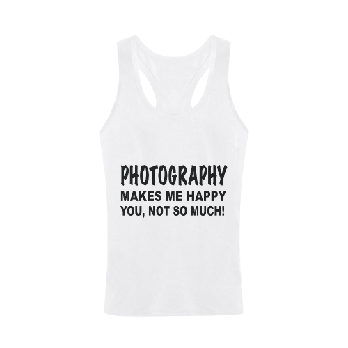 Photography makes me happy Men's I-shaped Tank Top (Model T32)