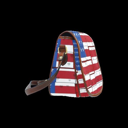 USA Pattern by Nico Bielow Saddle Bag/Large (Model 1649)