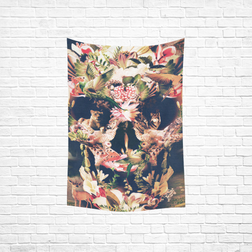 """Skull Art Cotton Linen Wall Tapestry 40""""x 60"""""""