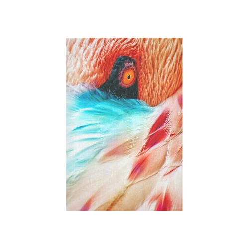 """Flamingos Cotton Linen Wall Tapestry 40""""x 60"""""""