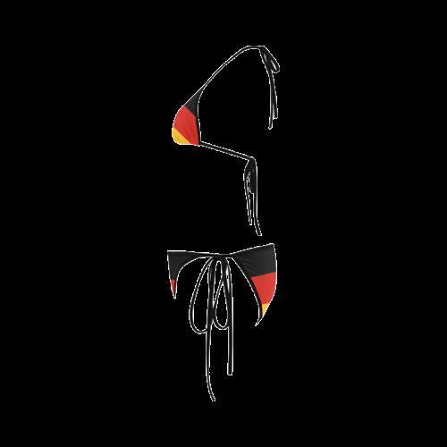 German Flag Colored Stripes Custom Bikini Swimsuit