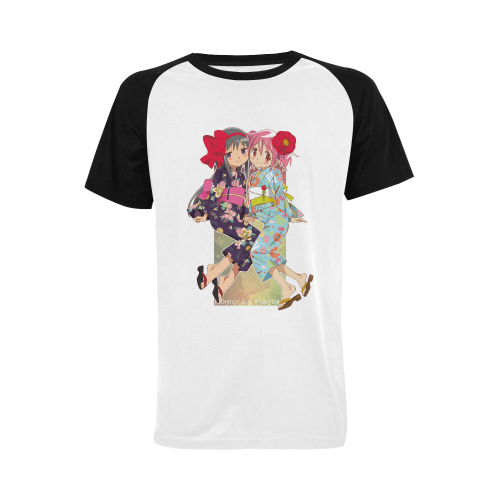 Madoka Magica Men's Raglan T-shirt (USA Size) (Model T11)