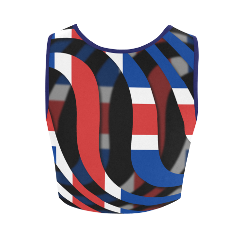 The Flag of Iceland Women's Crop Top (Model T42)
