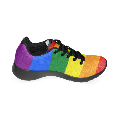 Gay Pride Rainbow Flag Stripes Women's Running Shoes (Model 020)