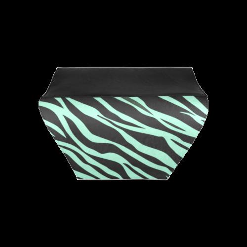 Mint Green Zebra Stripes Clutch Bag (Model 1630)