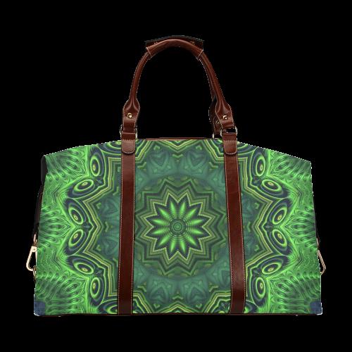 Harmony in Green Classic Travel Bag (Model 1643)