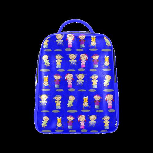 Stick Figure Kids Popular Backpack (Model 1622)